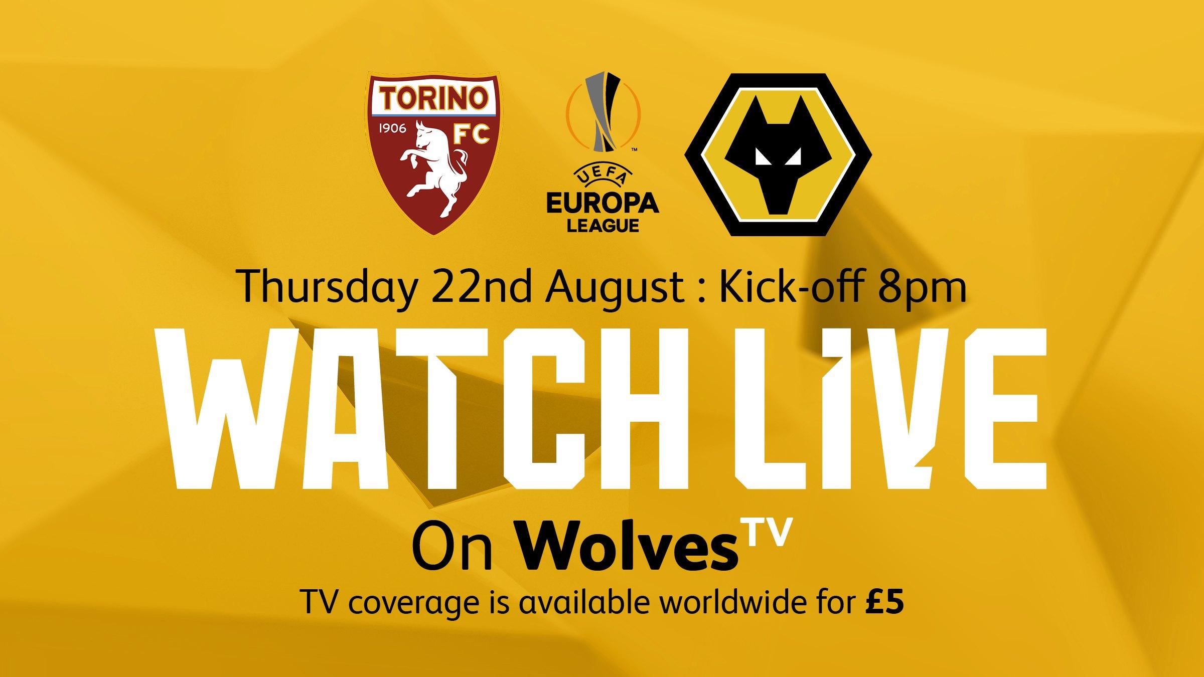 Watch Torino vs Wolves live on WolvesTV
